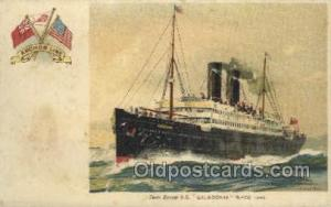SS Caledonia Anchor Line, Ship, Ships, Ocean Liners, Steamers Postcard Post C...