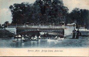 MIchigan Detroit Belle Isle Bridge Scene