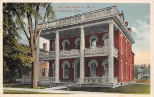 A21/ Delaware Ohio Postcard '22 Phi Psi Fraternity House Wesleyan University