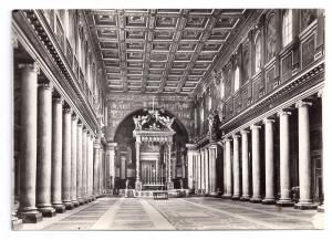 RPPC Roma Basilica Maria Maggiore Interior Rome Real Photo