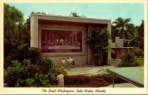 Postcard The Great Masterpiece Lake Wales Florida Jesus The Last Supper 1595