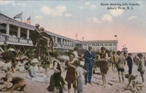 New Jersey Asbury park Beach Showing Life Guards