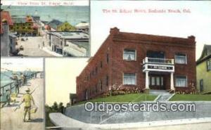 Redondo Beach, California USA The St. Edgar Hotel Road Side Postcard Post Car...