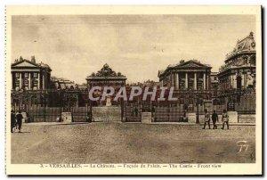 Old Postcard Versailles Chateau Du Palais Facade