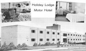 Spokane Washington Holiday Lodge Multiview Vintage Postcard K431477