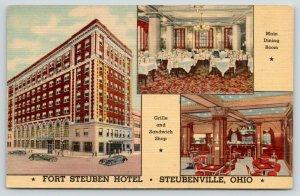 Steubenville Ohio~Fort Steuben Hotel~Inside Out~Grille Sandwich Shop~1946 Linen
