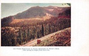 LP20 Colorado Postcard Cripple Creek Short Line Three Track Elevations