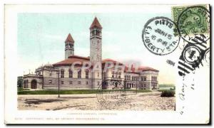 Postcard Old Carnegie Library Pittsburgh library