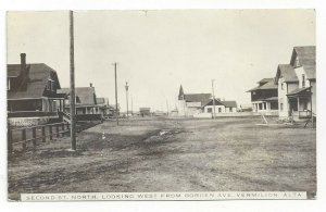 RP: Second St., North, Looking West from Borden Ave, VERMILION, Canada, PU-1912