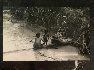 Mint Singapore Real Picture Postcard Malay Girls In The River