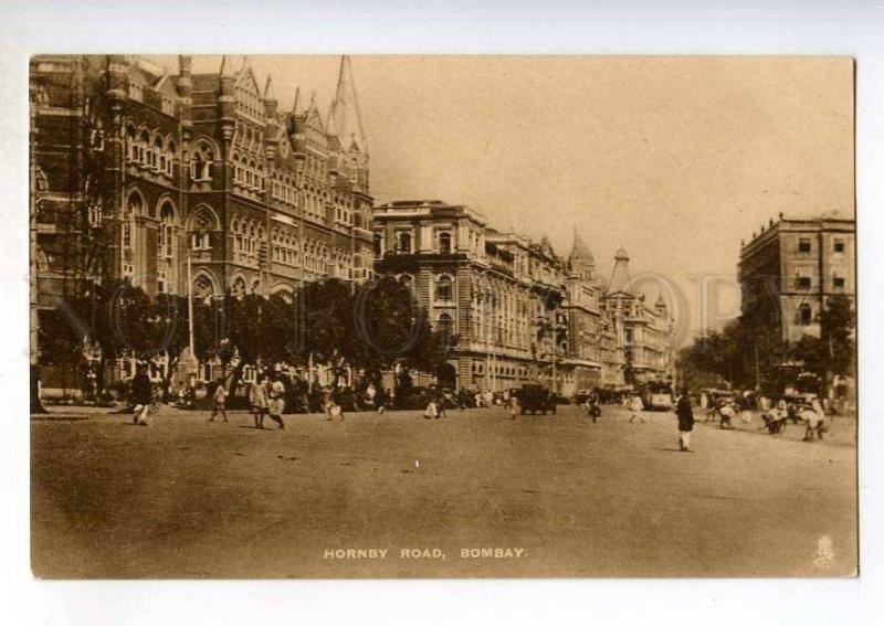 247225 INDIA BOMBAY Hornby road Vintage Tuck postcard