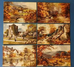 Set of 6 Tucks Postcards, Outside SHEFFIELD, still in envelope Series 7697 53T