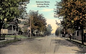 Olyphant, Pennsylvania - A look down Delaware Street - c1910