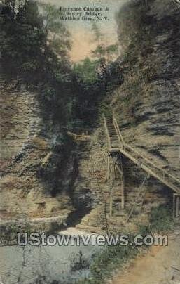 Cascade & Sentry Bridge - Watkins Glen, New York