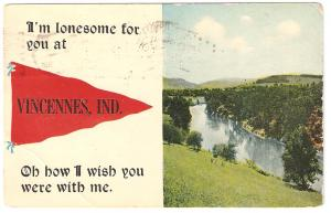 Post Card 1913 Indiana