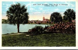 Florida Orlando Eola Park Showing Court House In Distance