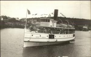 ESS Eastern Steamship Co Steamer Southport c1920s-30s Real Photo Postcard