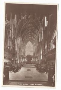 UK York Minster Cathedral Choir RPPC Raphael Tuck Postcard