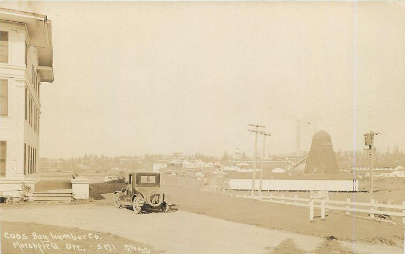 RPPC  MARSHFIELD, Oregon OR   COOS BAY LUMBER Company Logging  c1930s   Postcard