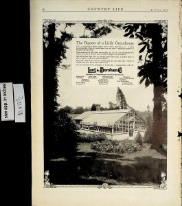 1922 Lord & Burnham Co Bigness Little Greenhouse Vintage Print Ad 5682