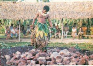BEQA ISLAND , Fiji , 1950-70s ; Fire Walker