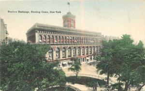 c-1905 Produce Exchange Bowling Green New York hand colored Hagemeister 9038