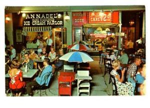 St Louis MO Annadel's Ice Cream Parlor Carls Beer Vintage Clothing Postcard