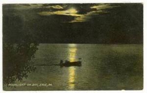 Moonlight on Bay, Erie, Pennsylvania,  PU-1909
