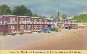 Kentucky Corbin Stewart's Motel and Restaurant 1951