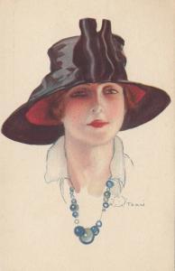 A. TERZI ; Art Deco Female Head Portrait , 1910s ; #5