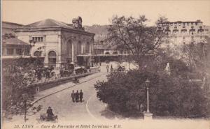 Gare De Perrache Et Hotel Terminus, LYON (Rhone), France, 1900-1910s