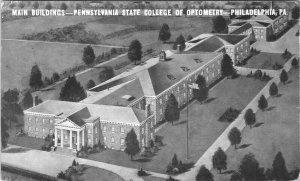 Penn State College of Optometry Philadelphia 1937 PM Bird's Eye View - A24