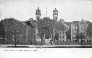 Mankato Minnesota~State Normal School~Two Towers~1907 B&W Postcard