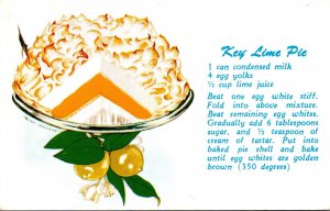 Recipe Card Key Lime Pie