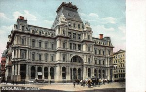 Post Office, Boston, Massachusetts, Early Postcard, Unused