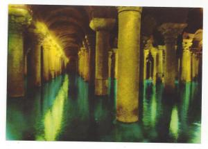 Turkey Istanbul Basilica Cistern Yerebatan Sarayi Postcard