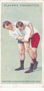 Cigarette Card Player and Sons Wrestling & Ju-Jitsu 1913 No 15 The Cross Buttock