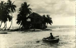 british honduras, BELIZE, Rendezvous Caye (1950s) Angelus 15 RPPC Postcard