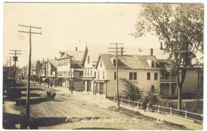 Fort Fairfield ME Dirt Street View Store Fronts Horse RPPC Real Photo Postcard
