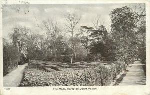 The Maze, Hampton Court Palace postcard