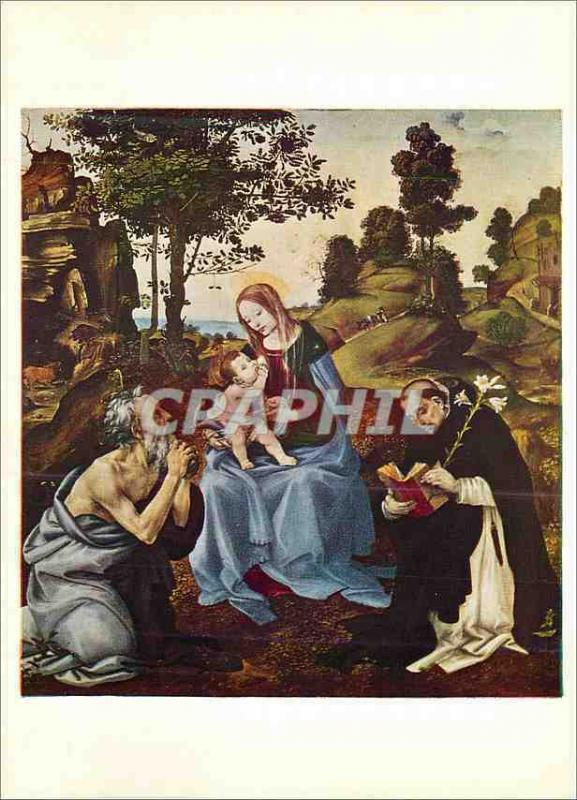 CPM National Gallery Lippi Filippino Altarpiece The Virgin and Child with SS Jer