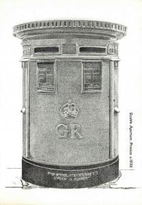 Postcard, Double Aperture Pillar Post Box illustration, Preston, Lancashire 87R
