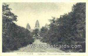 Ruines D'Angkor Cambodia, Cambodge Angkor Vath, Allee conduisant a la façade...