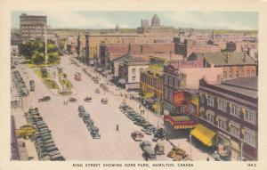 HAMILTON , Ontario , Canada , 1930s ; King Street showing Gore Park