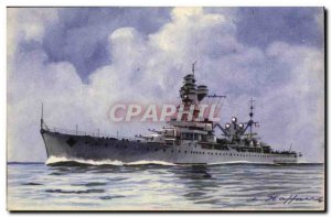 Old Postcard Boat Cruiser War of these classes is re Algeria