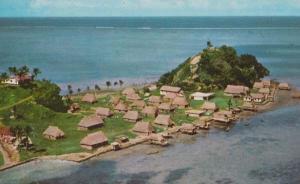 Serua Island Atoll Village Aerial Fiji Postcard
