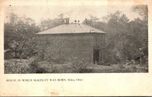 Ohio Niles House In Which McKinley Was Born 1908