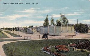 Missouri Kansas City Twelfth Street And Paseo 1910