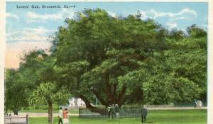 GA - Brunswick, Lovers' Oak