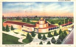 Cosmetics Building 1939 New York USA, Worlds Fair Exposition, Postcard Post Card